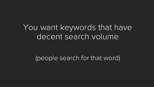 Now, prepare for the advice on SEO you will ever hear... (at least from me)