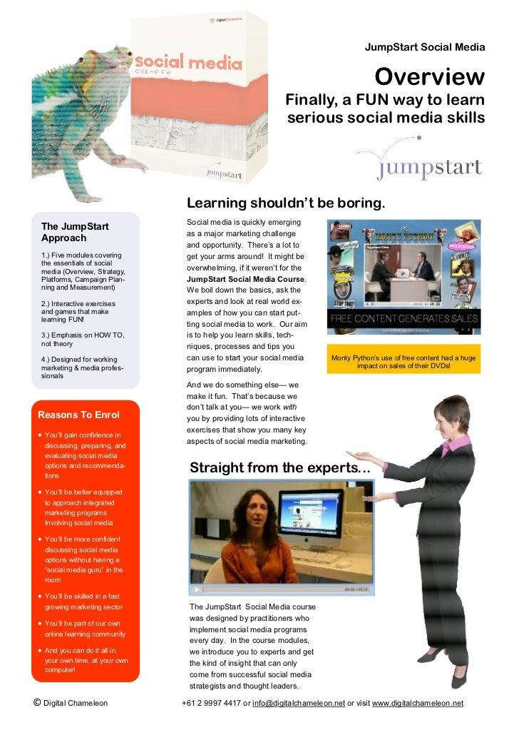 JumpStart Social Media                                                                                       Overview     ...