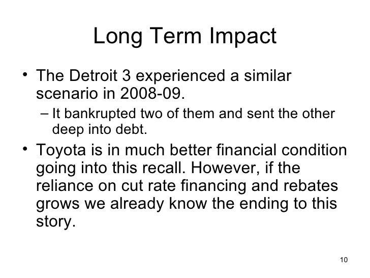 impact of toyota recall