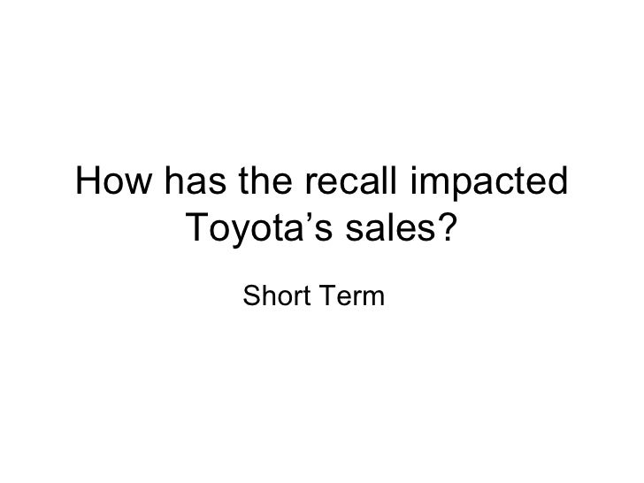 toyota recall analysis