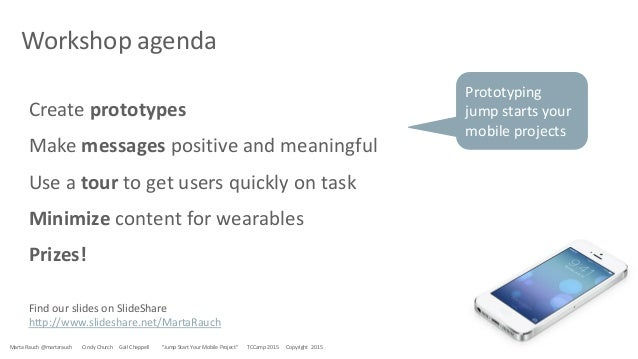 Jump Start Your Mobile Project, by Marta Rauch Slide 3