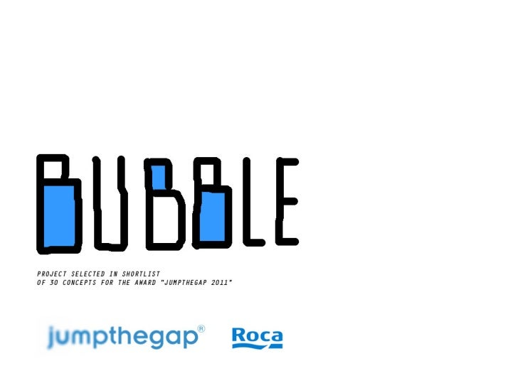 Project Bubble for Jumpthegap award