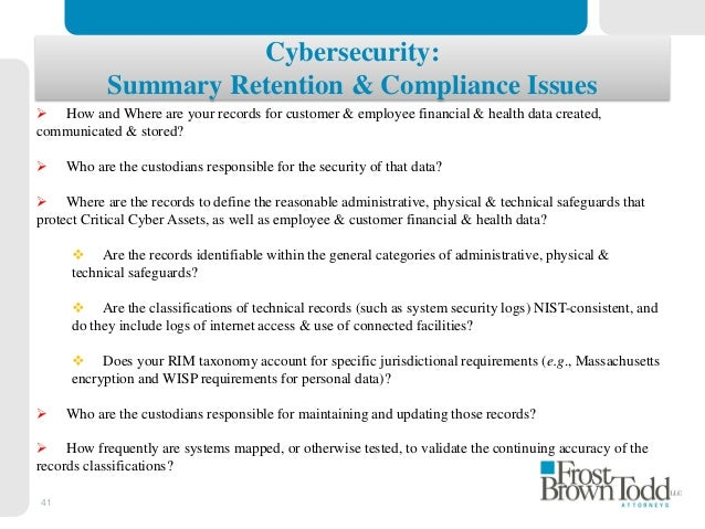 Legal Issues In Data Privacy And Security Response Readiness Before