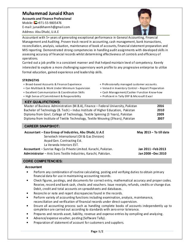 Nice Uae Accountant Resume Model - FORTSETZUNG ARBEITSBLATT ...