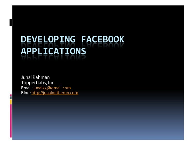 Developing Facebook Application (for beginners)