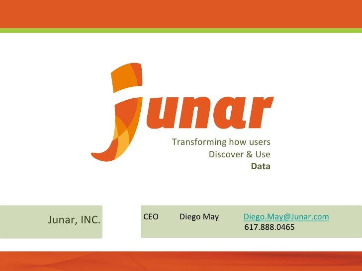 Transforming how users                                      Discover & Use                              ...