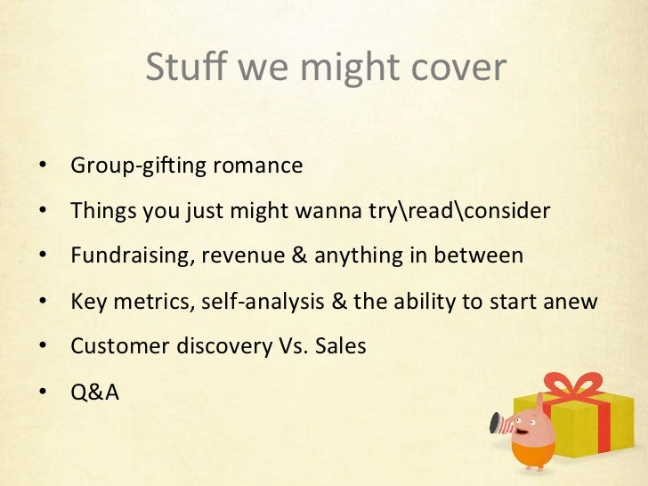 The Gifts Project Lessons - The Story of a Lean Startup Slide 2