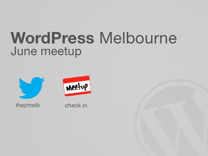 WordPress MelbourneJune meetup#wpmelb   check in