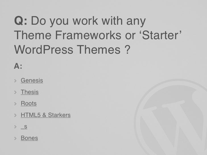 Fancy Starkers Wordpress Theme Gift - Examples Professional Resume ...