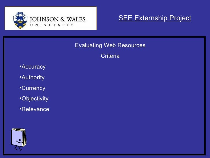 the accuracy and authority of web documents essay View essay - sos 110 accuracy of web documents who wrote the page and can you contact him or her authority of web documents.
