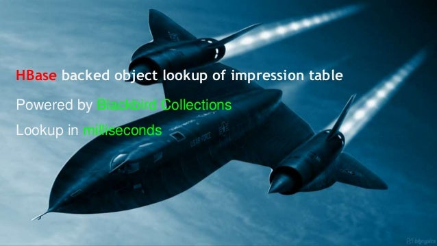 HBase backed object lookup of impression table Powered by Blackbird Collections Lookup in milliseconds