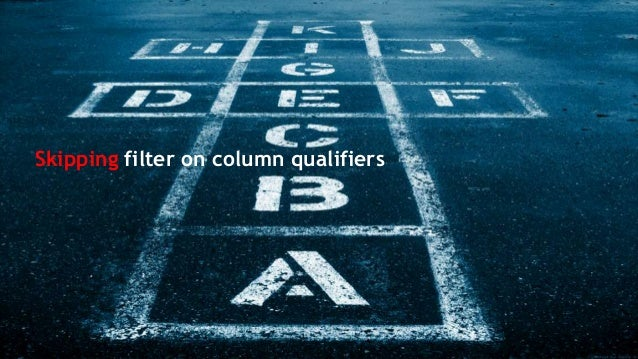 Skipping filter on column qualifiers