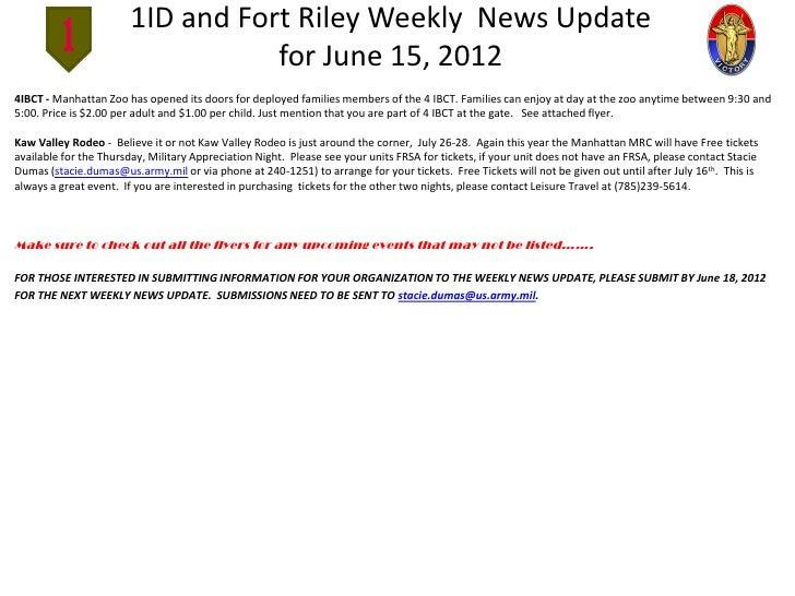June 15 2012  1ID WEEKLY NEWS UPDATE Slide 2