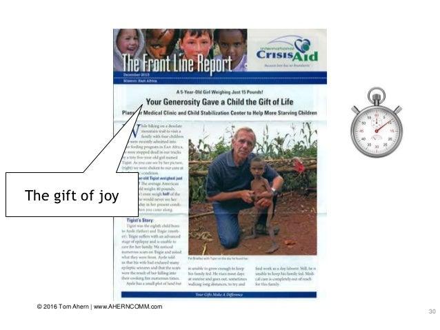 30 The gift of joy © 2016 Tom Ahern   www.AHERNCOMM.com