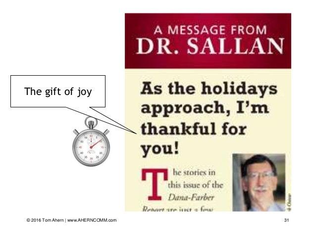 31 The gift of joy © 2016 Tom Ahern   www.AHERNCOMM.com