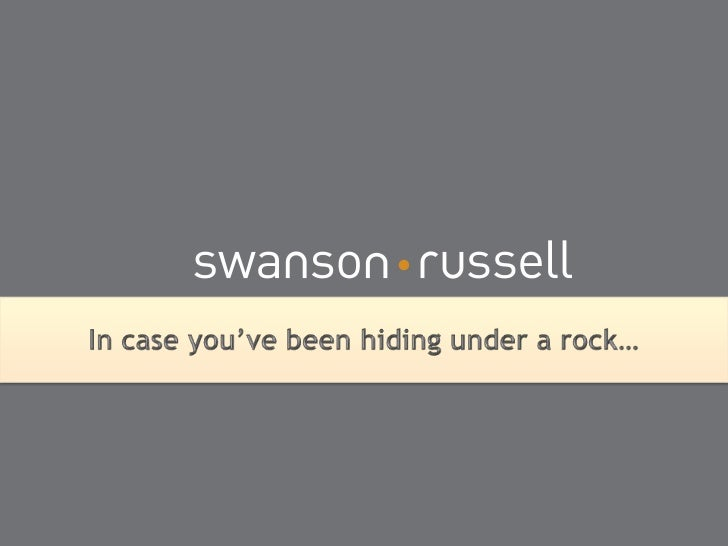 In case you've been hiding under a rock…<br />
