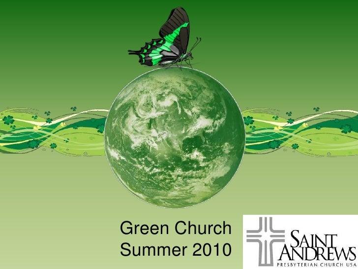 Green Church<br />Summer 2010<br />