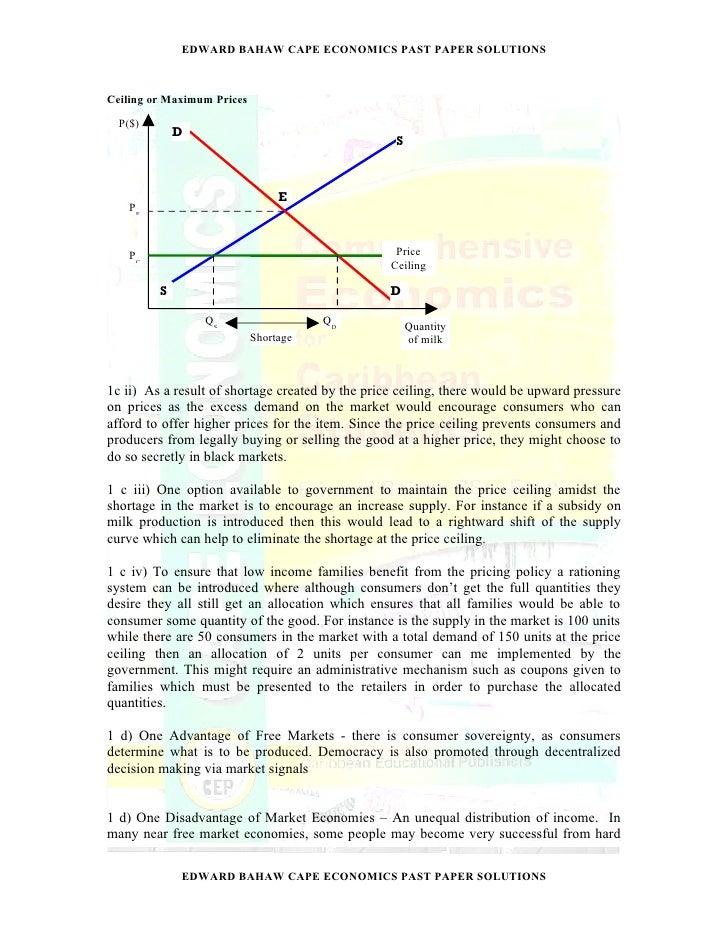 EDWARD BAHAW CAPE ECONOMICS PAST PAPER SOLUTIONS; 6.