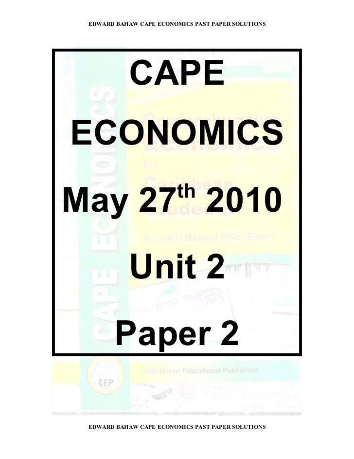 Edexcel Unit 2 (6EC02)