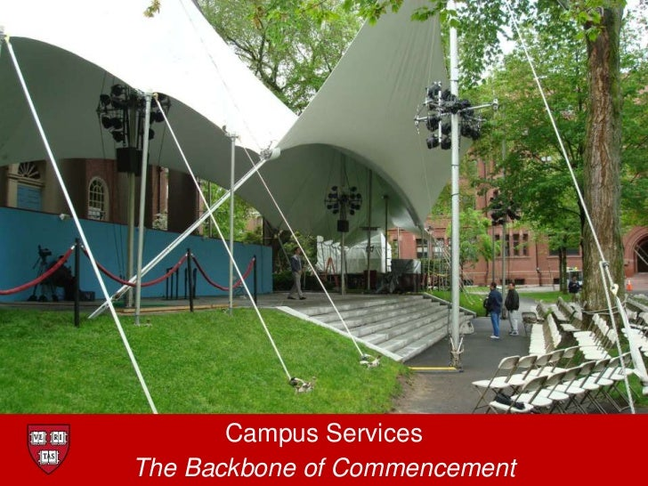 Campus Services<br />The Backbone of Commencement<br />