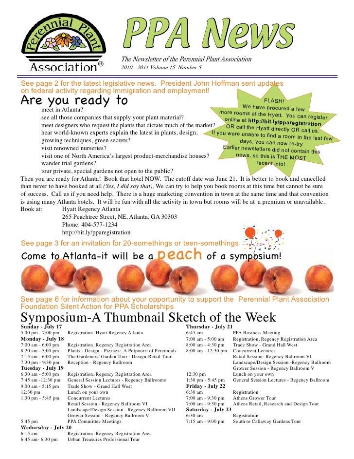 PPA News                                             The Newsletter of the Perennial Plant Association                    ...
