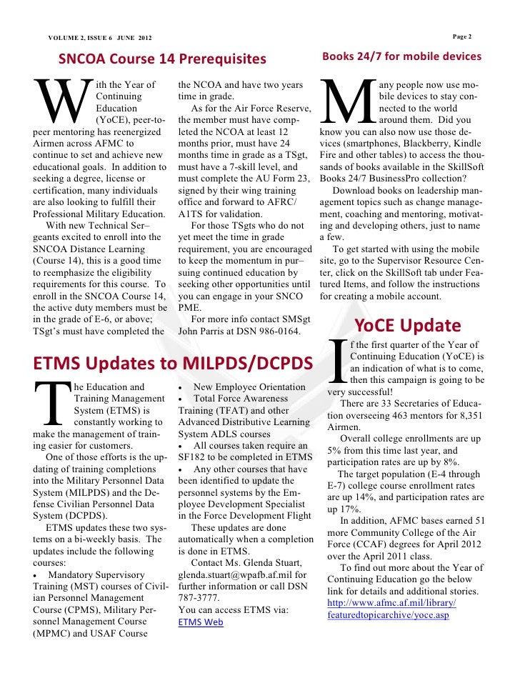 June 2012 force development newsletter