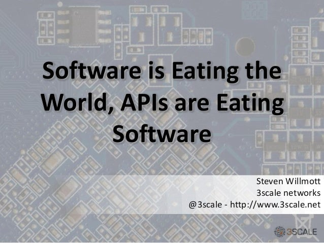 Software is Eating theWorld, APIs are EatingSoftwareSteven Willmott3scale networks@3scale - http://www.3scale.net