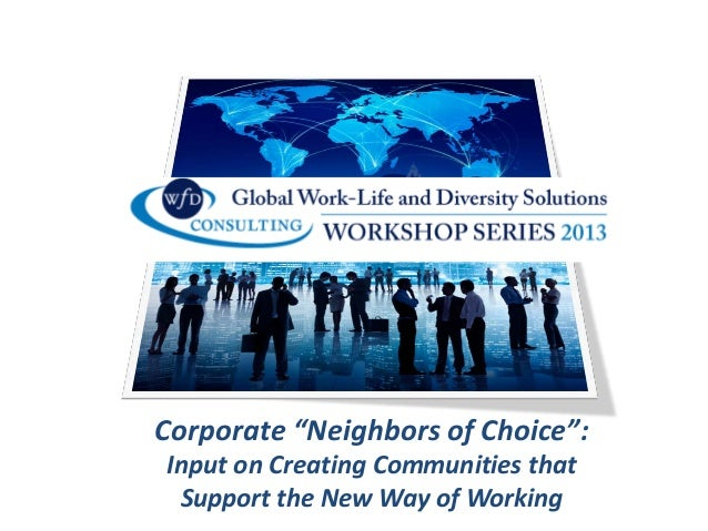 "Corporate ""Neighbors of Choice"": Input on Creating Communities that Support the New Way of Working"