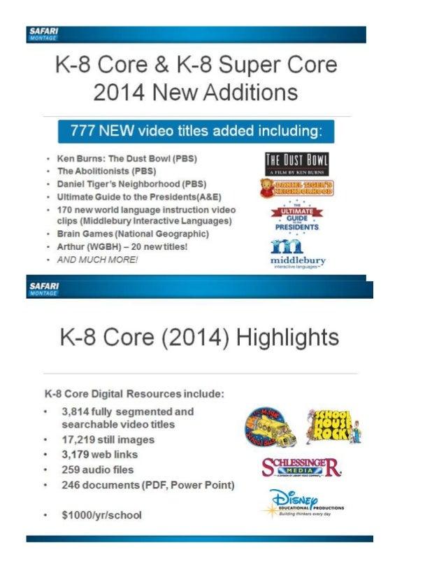 Safari Montage June 2014 Updates