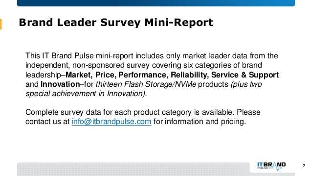 2016 Flash Storage-NVMe Brand Leader Mini-Report Slide 2