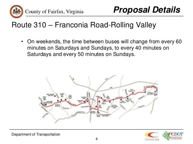 Fairfax Connector June 2016 Service Change Proposal