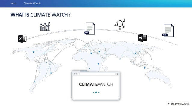 WHAT IS CLIMATE WATCH? Intro Climate Watch