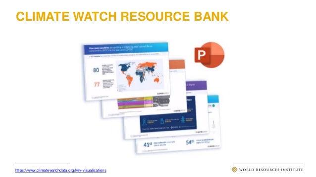 CLIMATE WATCH RESOURCE BANK https://www.climatewatchdata.org/key-visualizations