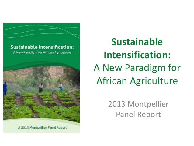 Sustainable Intensification: A New Paradigm for African Agriculture 2013 Montpellier Panel Report