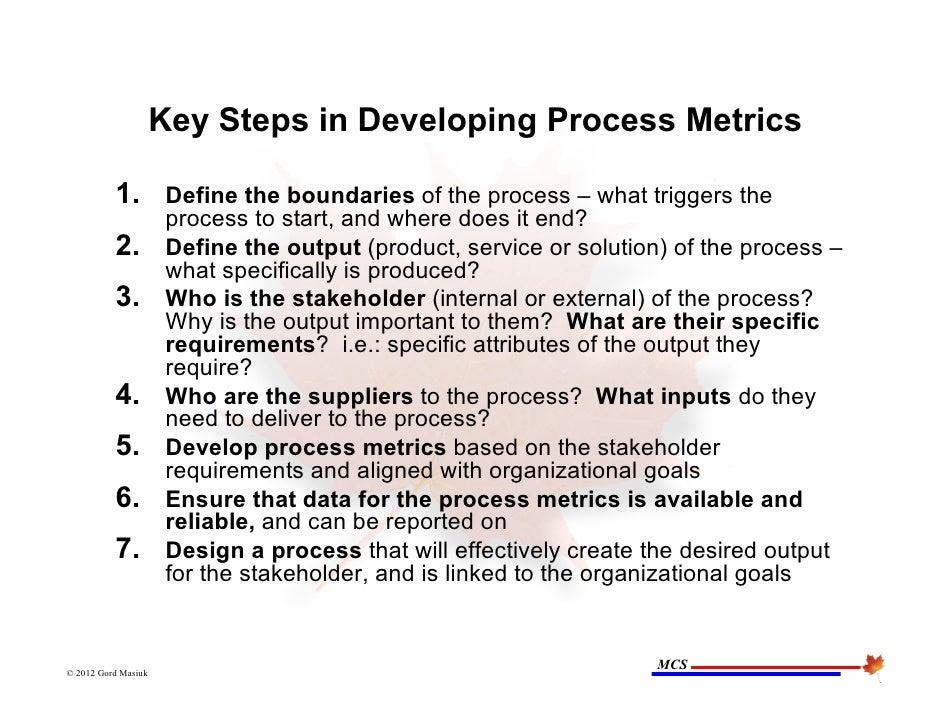 June 21 2012 Process Performance Metrics Presentation