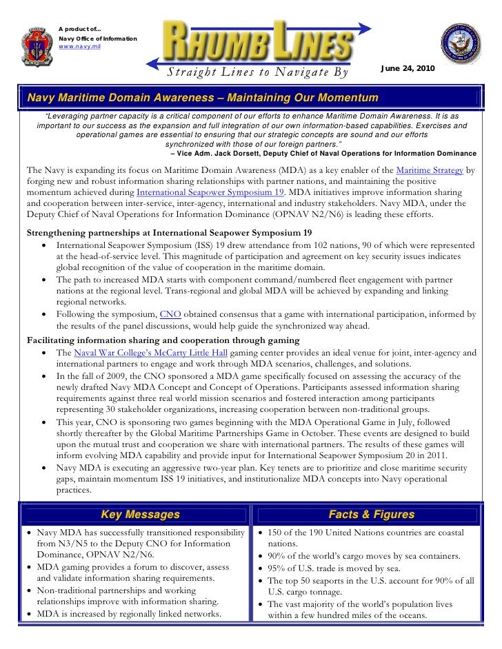 A product of...         Navy Office of Information         www.navy.mil                                                   ...