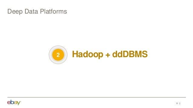 30 Deep Data Platforms Hadoop + ddDBMS2