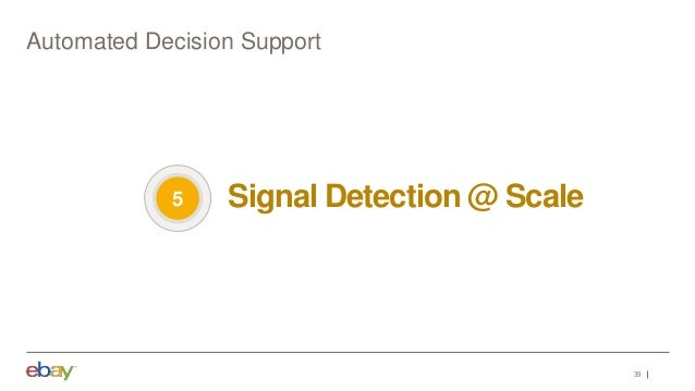 39 Automated Decision Support Signal Detection @ Scale5