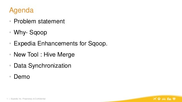 Bridging the gap of Relational to Hadoop using Sqoop @ Expedia