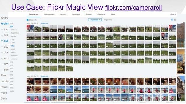 Use Case: Flickr Magic View flickr.com/cameraroll