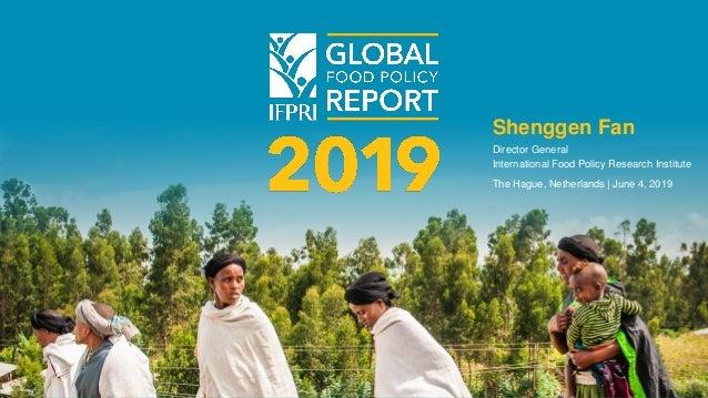 Shenggen Fan Director General International Food Policy Research Institute The Hague, Netherlands | June 4, 2019