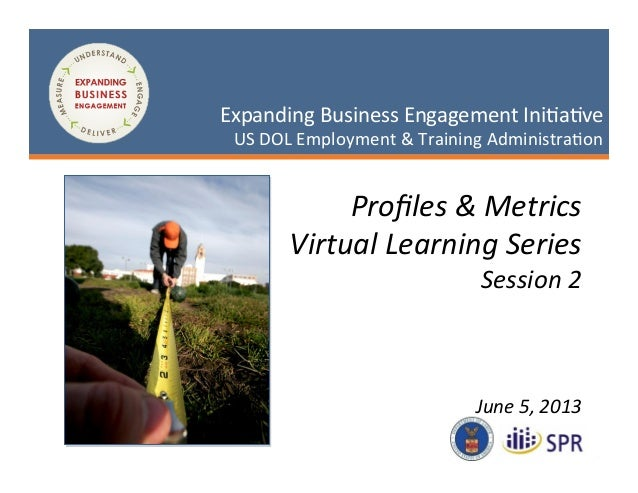 1 May 3, 2013 Expanding Business Engagement Ini2a2ve US DOL Employment & Training Administra2on...