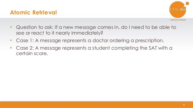 • Question to ask: If a new message comes in, do I need to be able to see or react to it nearly immediately? • Case 1: A m...