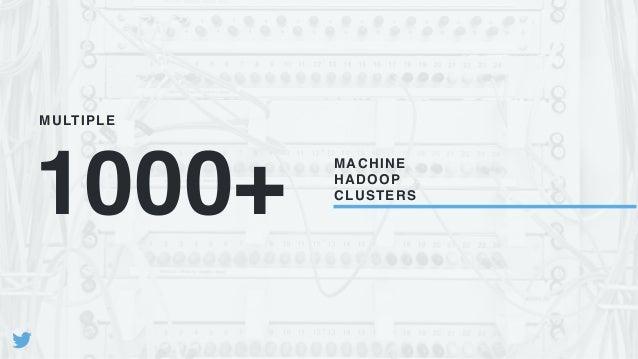 1000+ MACHINE HADOOP CLUSTERS MULTIPLE