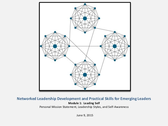 Networked Leadership Development and Practical Skills for Emerging Leaders Module 1: Leading Self Personal Mission Stateme...
