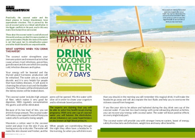 Best time to drink coconut water for weight loss