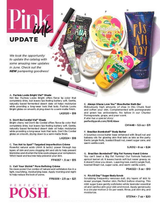 June Perfectly Posh Core Catalog relaunch changes