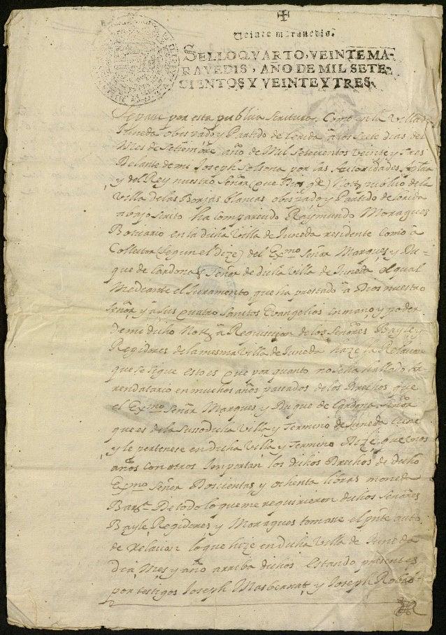 Juneda cadastre 1723