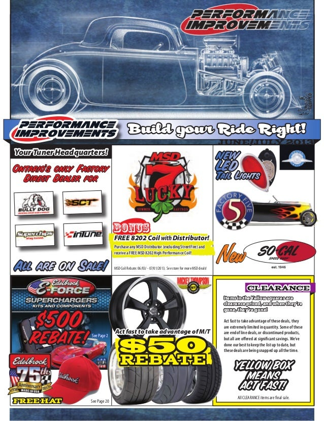 Build your Ride Right!June/July 2013Items in the Yellow squares areclearance priced, and when they'regone, they're gone!YE...