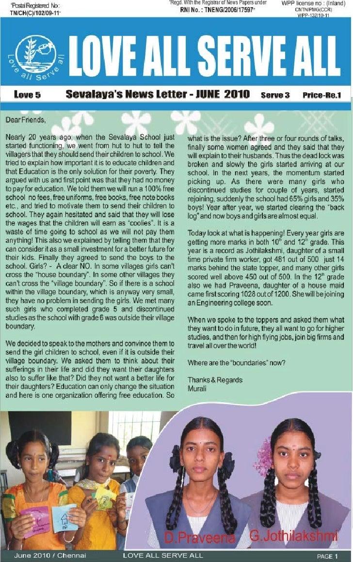 June News Letter 2010
